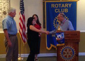Apryl Molina receives scholarship from Richmond Rotary for TSTC