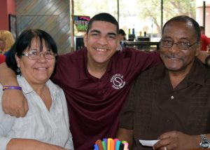 Matthew Murphy and his parents