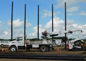 TSTC Utility Pole Yard Installation