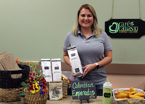 Johanna Lozano, owner of Cafe Canasto