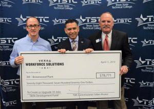 TSTC and 3M Brownwood Celebrate TWC Skills Development Fund Grant