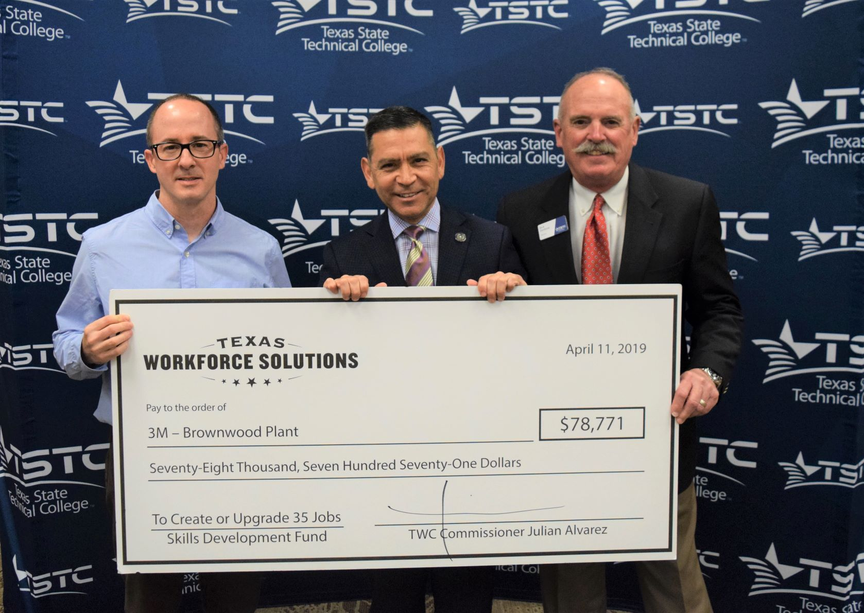 TSTC and 3M Brownwood Celebrate TWC Skills Development Fund Grant