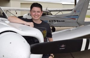 TSTC Candidate for Graduation Looks to the Sky for His Career