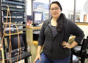 TSTC Cybersecurity student Mayra Diaz