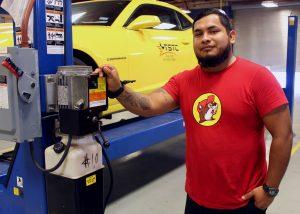 TSTC Automotive Technology student